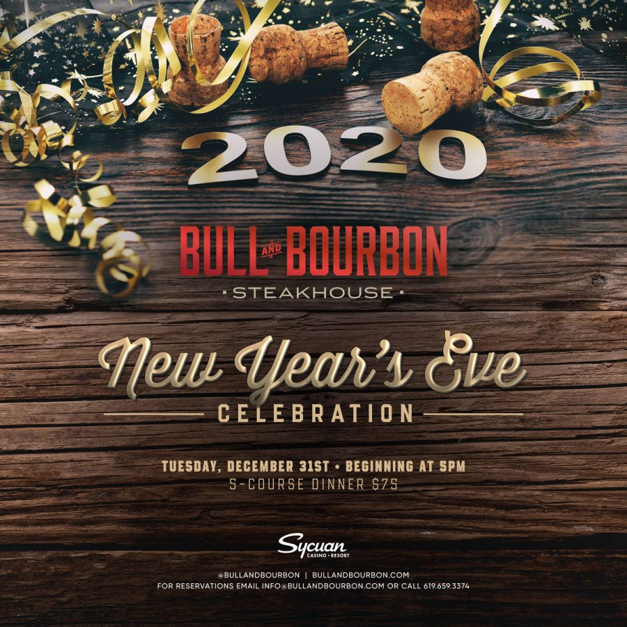New Year's Eve Dinner at Bull and Bourbon