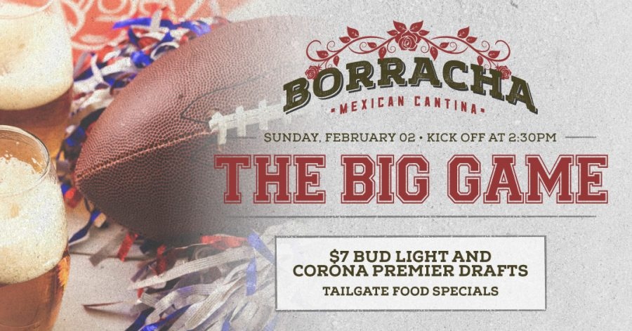 The Big Game at Borracha Mexican Cantina