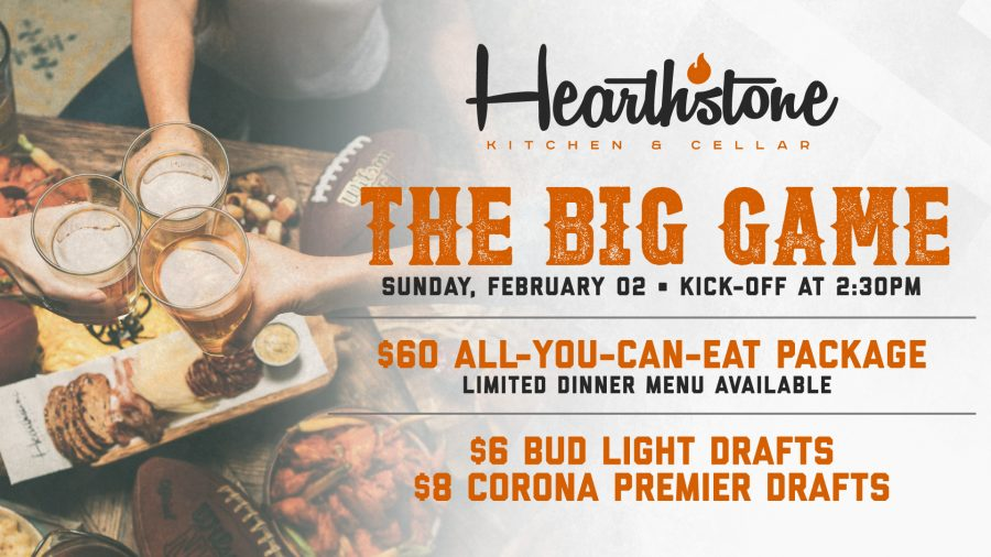 The Big Game at Hearthstone Kitchen & Cellar