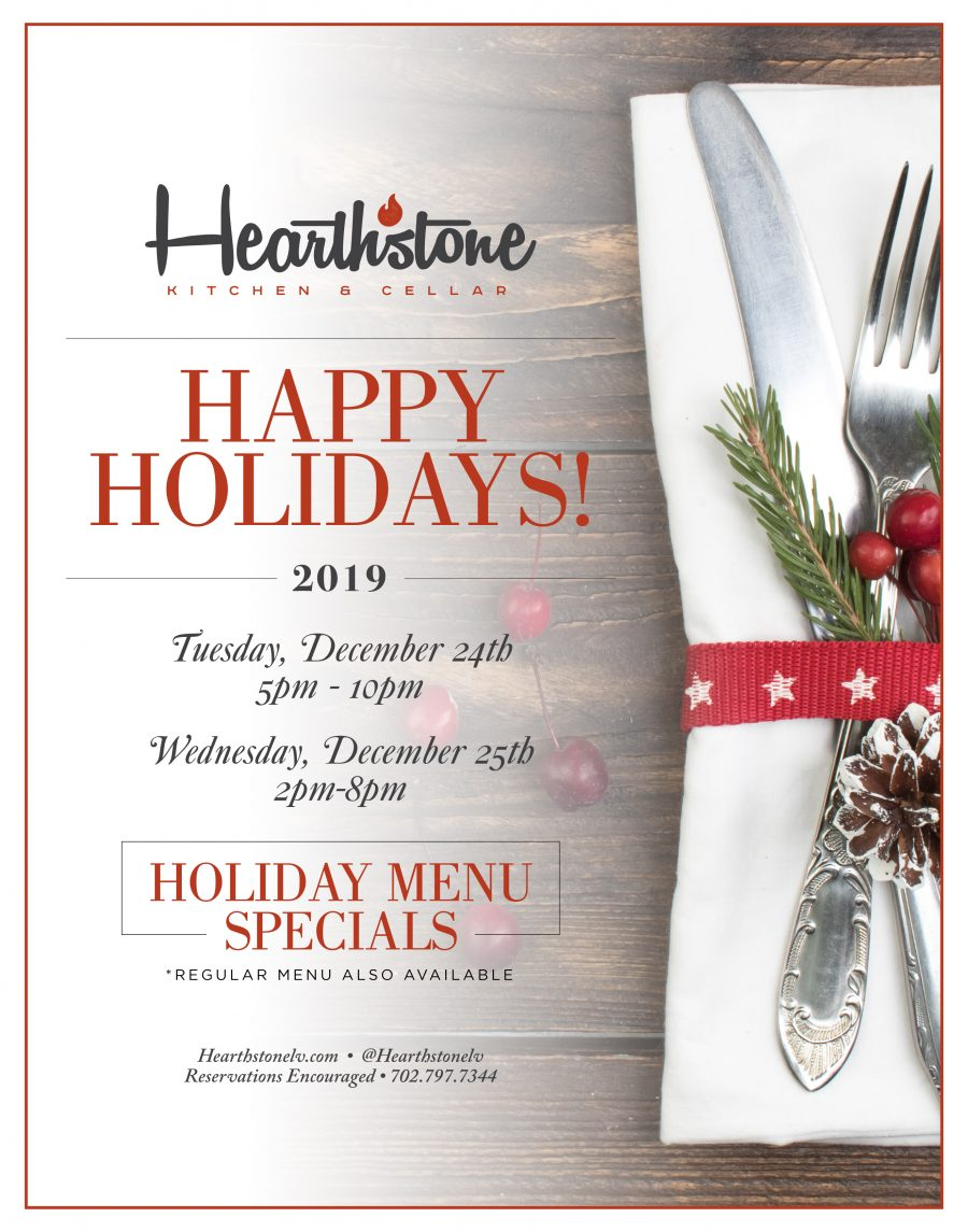 Happy Holidays from Hearthstone Kitchen & Cellar
