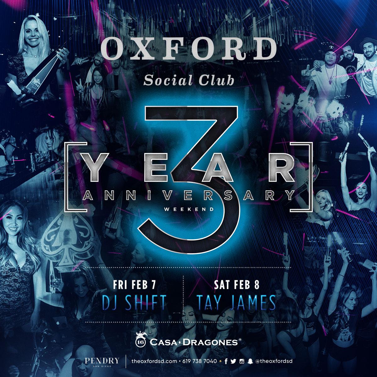 oxford 3 year anniversary