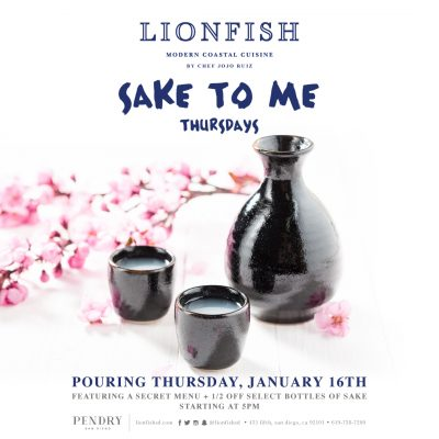Reinvent Thursday Evenings with Sake to Me Thursday at Lionfish