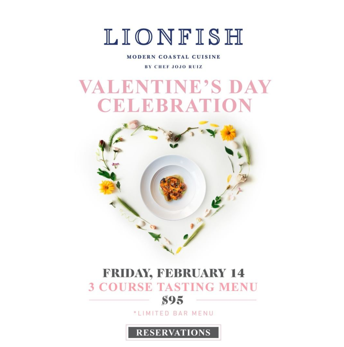 Embrace Your Inner Cupid with a Valentine's Celebration at Lionfish